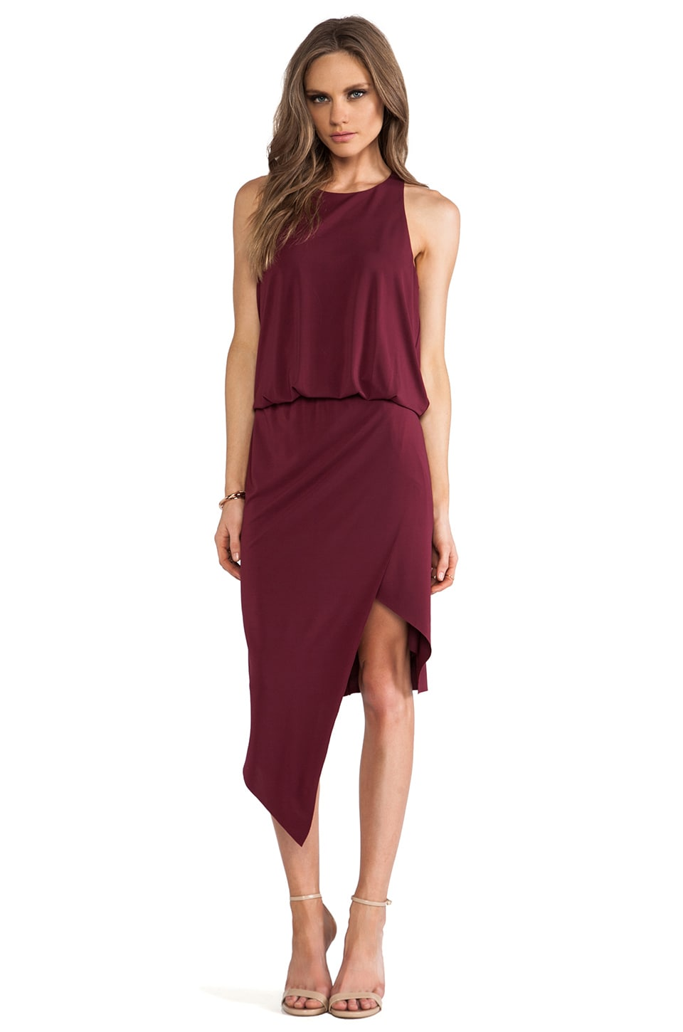 Elizabeth and James Rowan Dress in Garnet