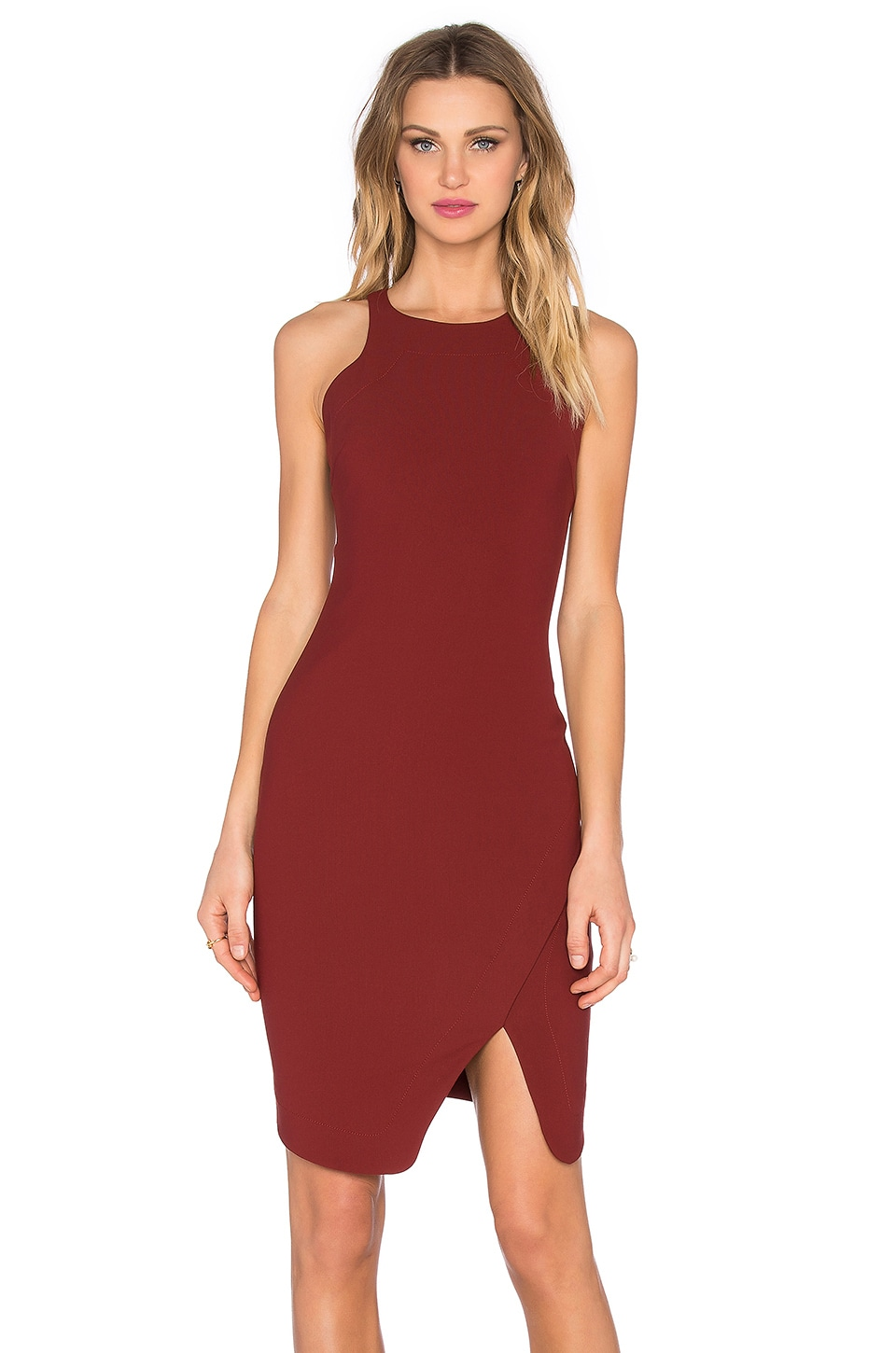Elizabeth and James Bardot Dress in Fig