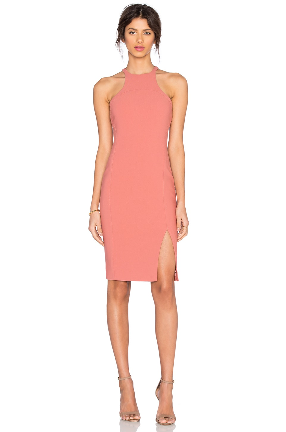Elizabeth and James Hout Dress in Peach Nougat