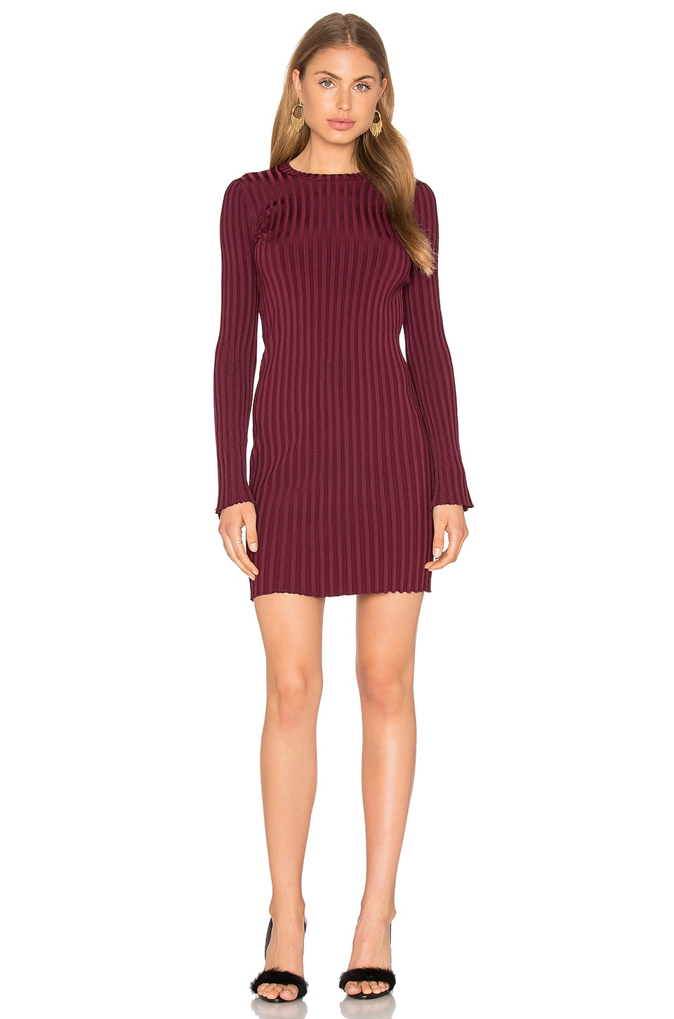 Elizabeth and James Penny Dress in Bordeaux