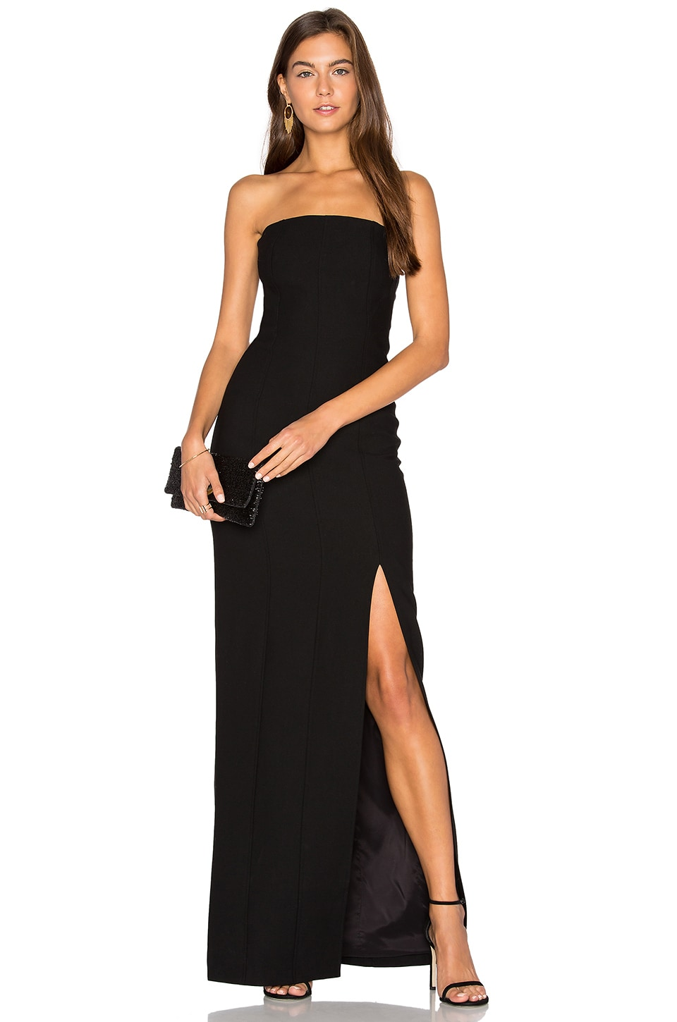 Elizabeth and James Carly Gown in Black