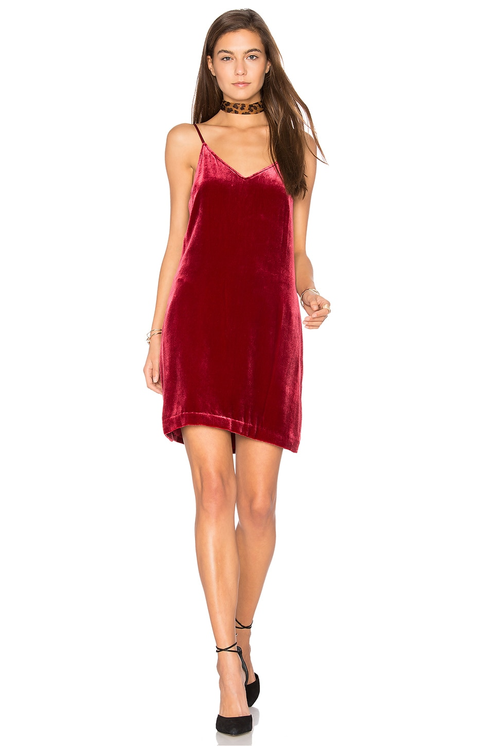 Sidney Frosted Velvet Cami Dress by Elizabeth And James