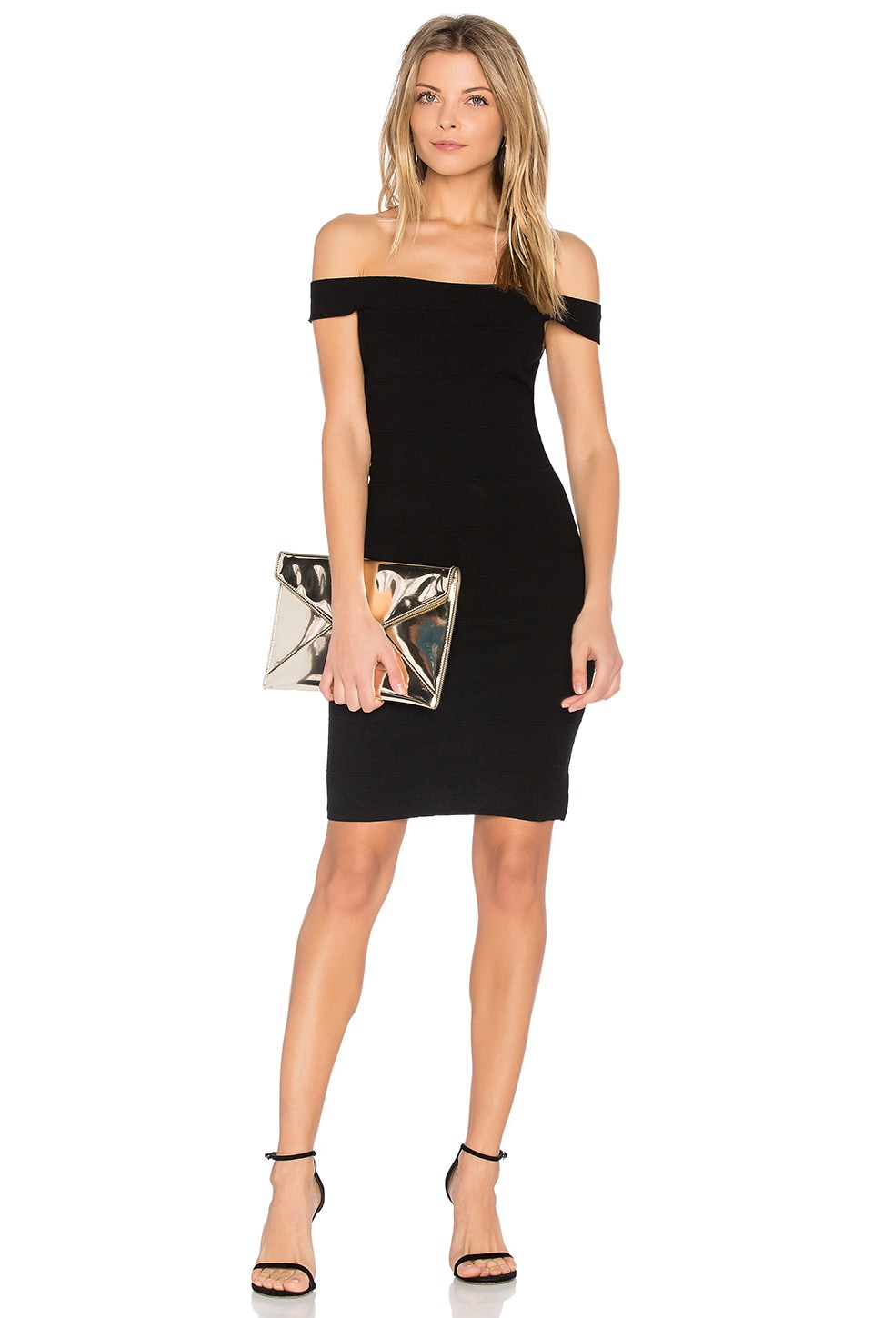 Elizabeth and James Linden Dress in Black