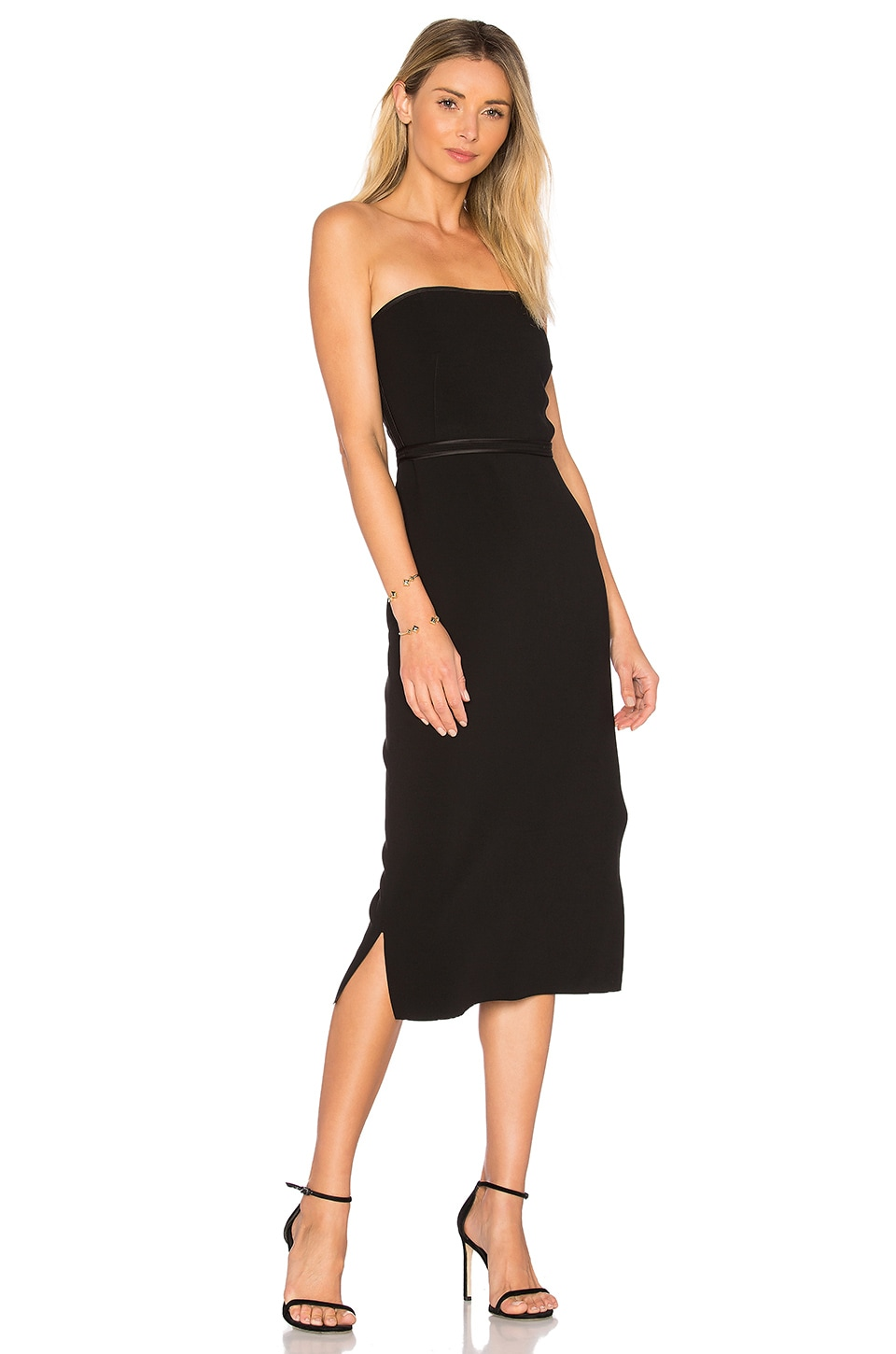Elizabeth and James Sierra Strapless Dress in Black