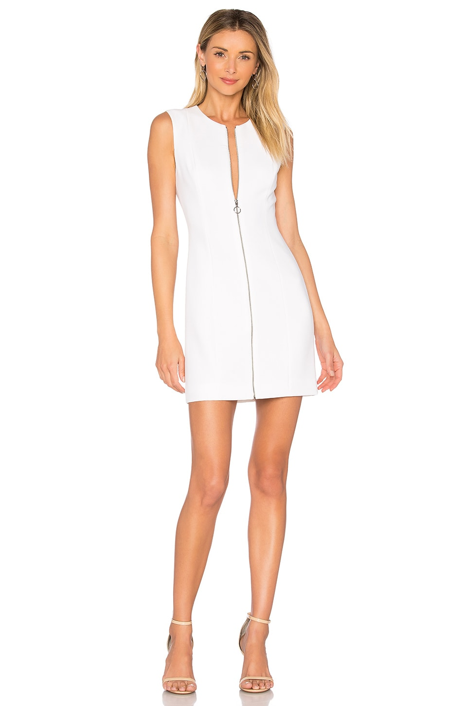 Elizabeth and James Susannah Bodycon Mini Dress in White
