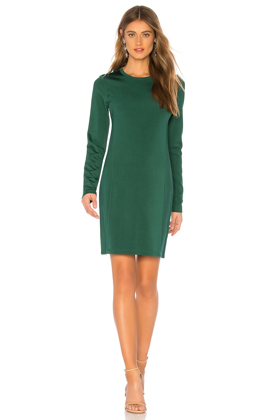 Elizabeth and James Starr Mini Dress in Bottle Green