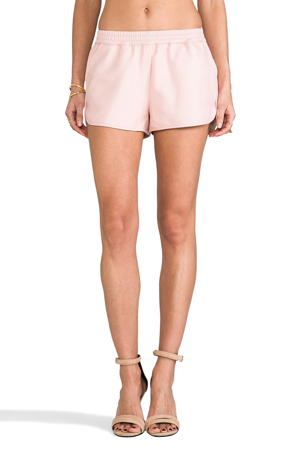 Elizabeth and James Leather Hammond Short in Pale Pink