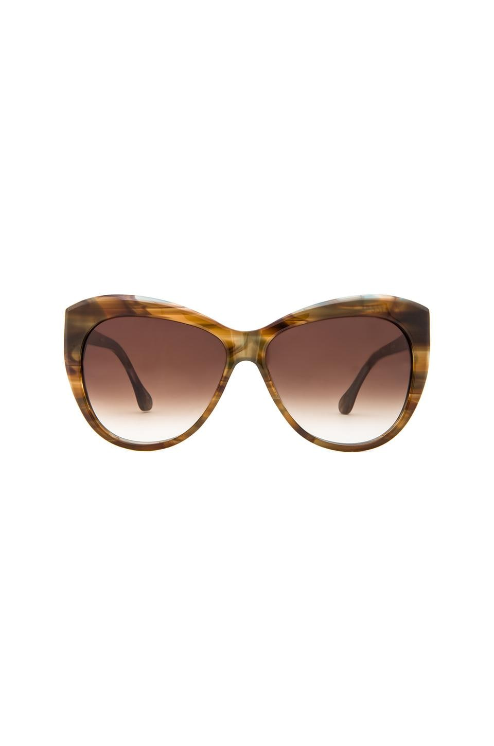 Elizabeth and James Crescent Sunglasses in Brown