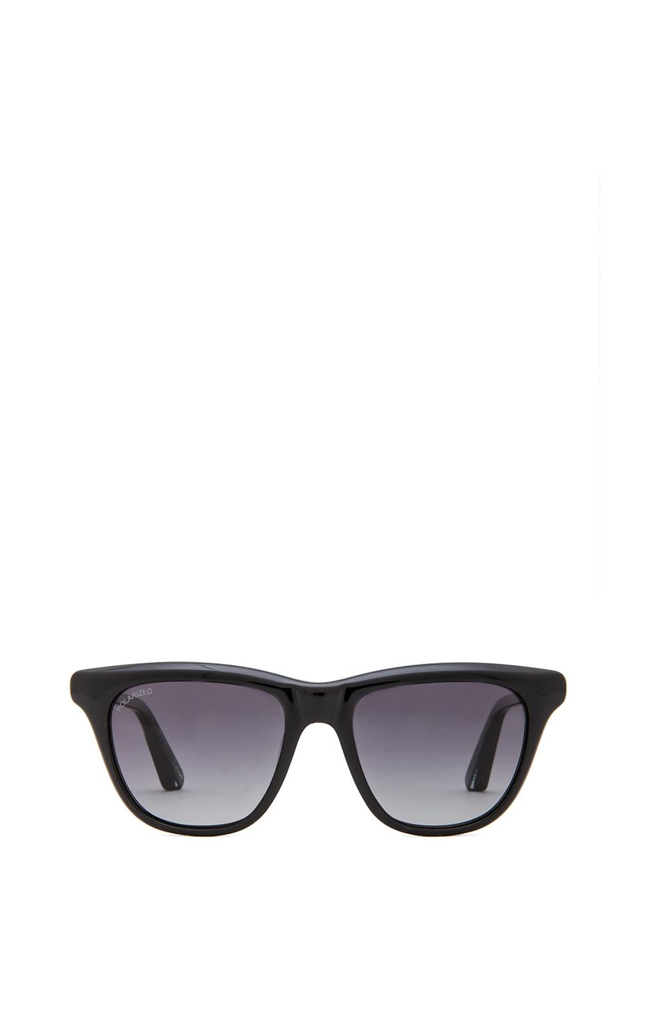 Elizabeth and James Talbert Sunglasses in Shiny Black