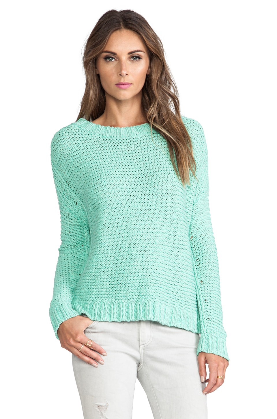 Elizabeth and James Boxy Pullover Sweater in Mint