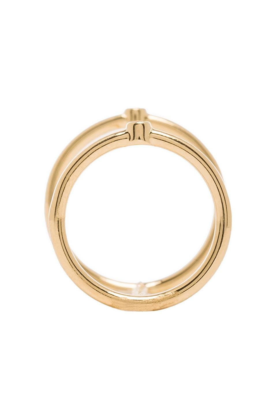 Elizabeth and James Miro Knuckle Ring in Gold