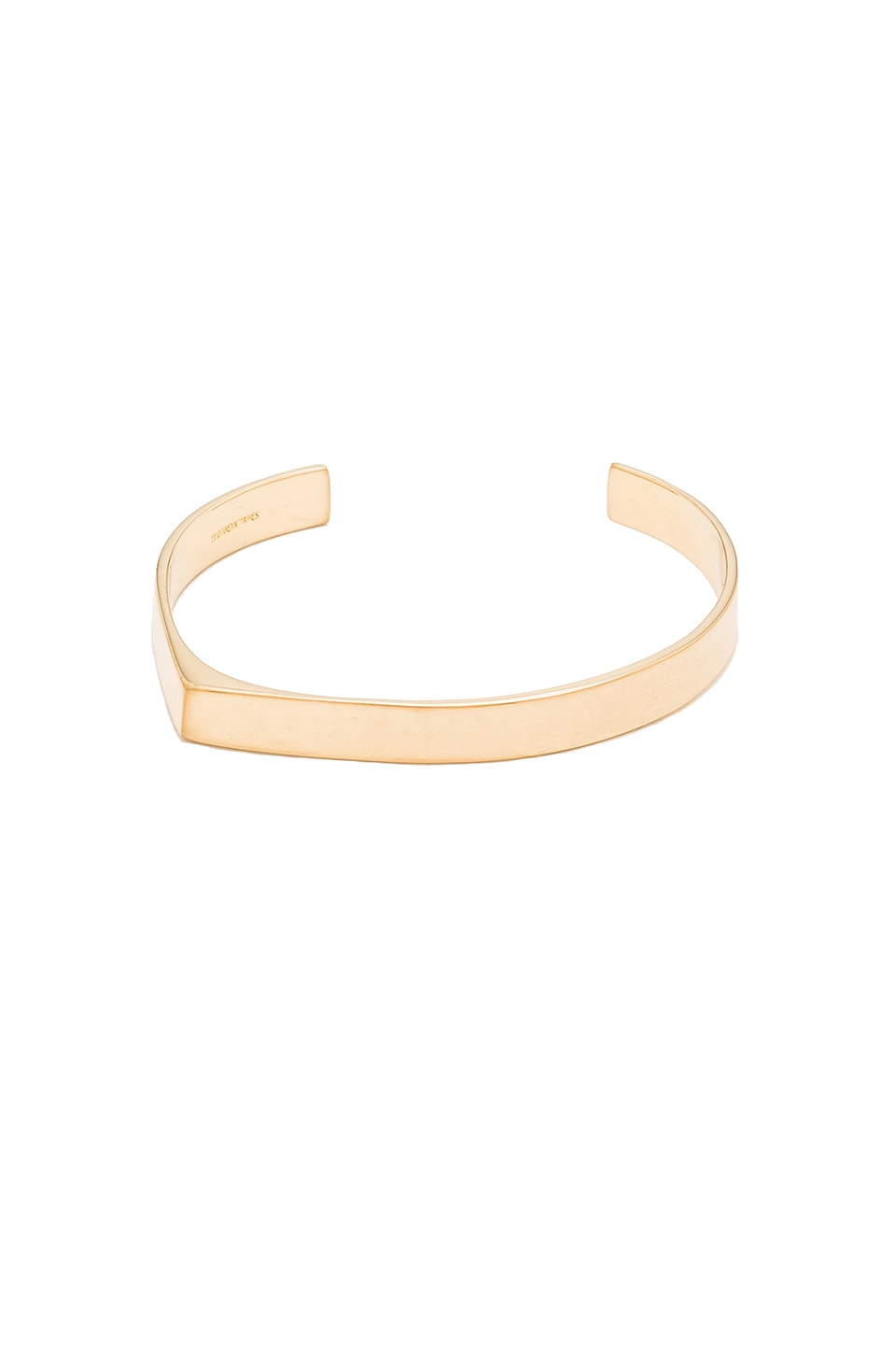 Elizabeth and James Quinn Cuff in Yellow Gold
