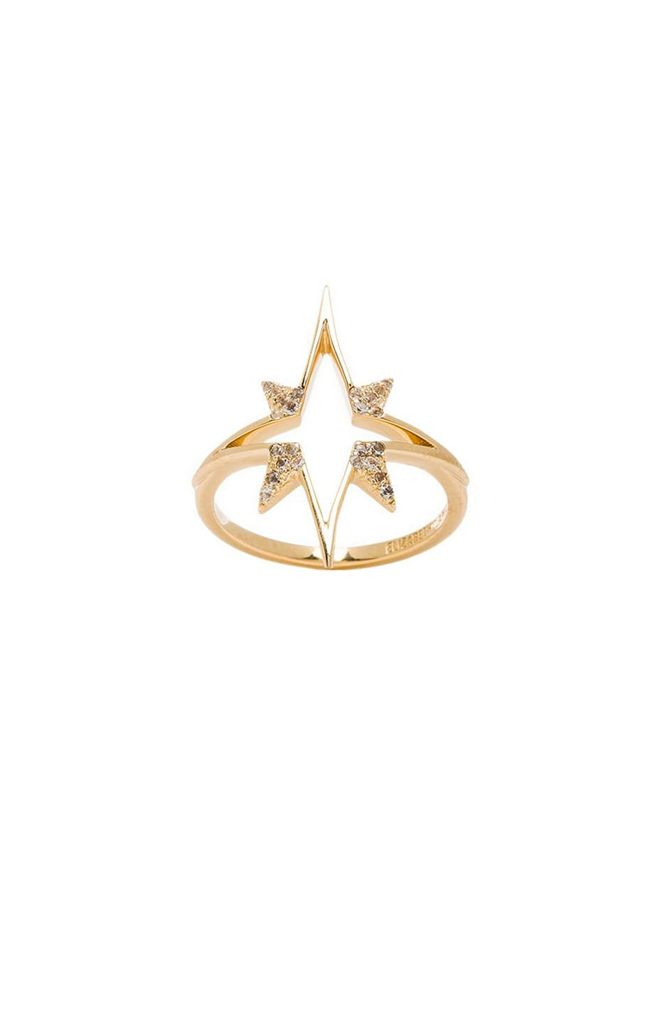 Elizabeth and James Astral Ring with White Topaz in Gold