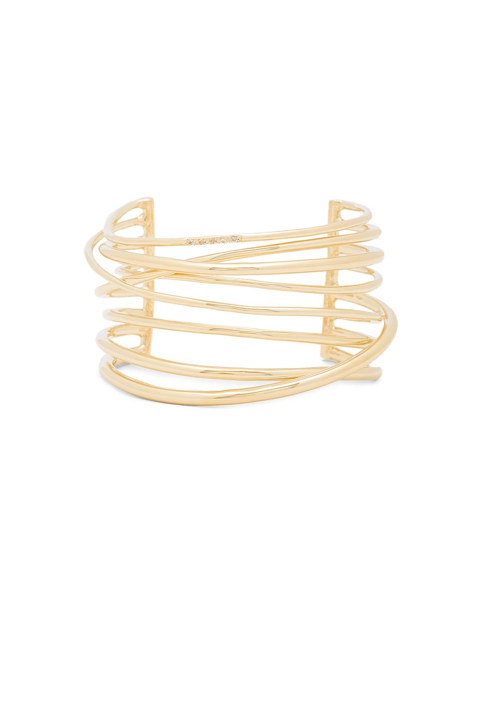 Elizabeth and James Roxy Cuff in Yellow Gold