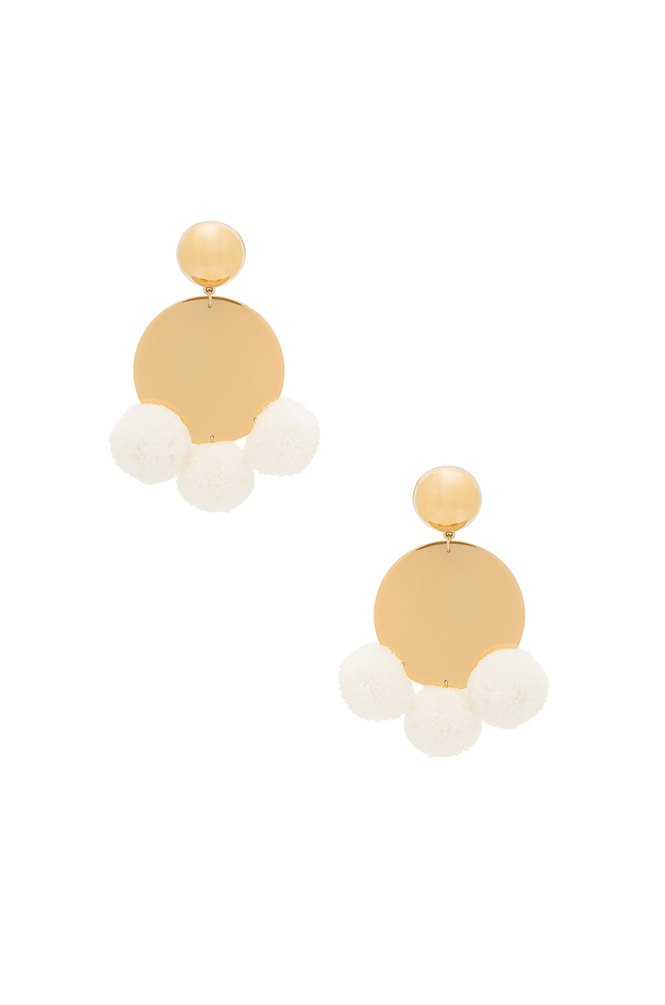 Elizabeth And James Stevie Earrings In Yellow Gold