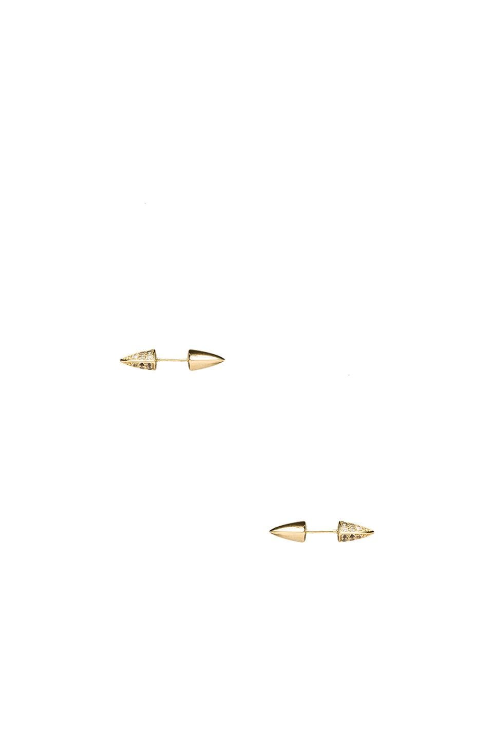 Elizabeth and James Vogel Pave Studs in White Topaz