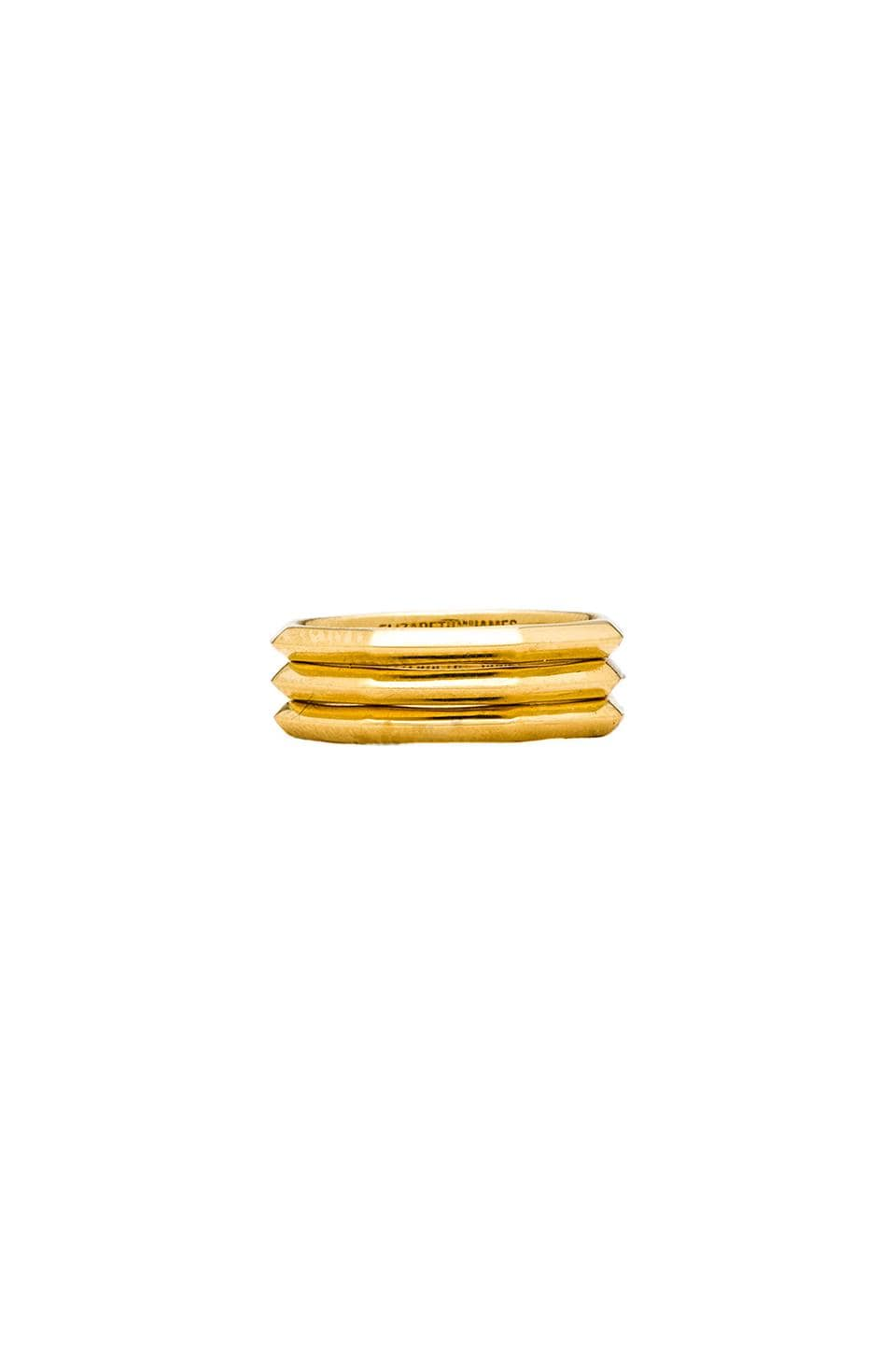 Elizabeth and James Victoria Stacking Rings in Gold