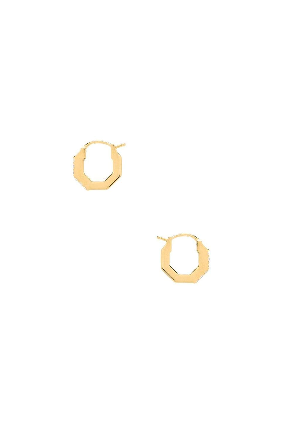 Elizabeth and James Small Victoria Hoop Earring in White Topaz