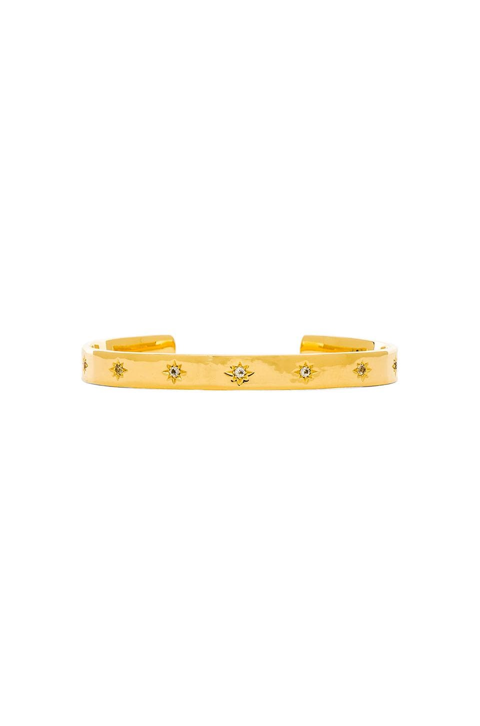 Elizabeth and James Bassa Cuff in Yellow Gold