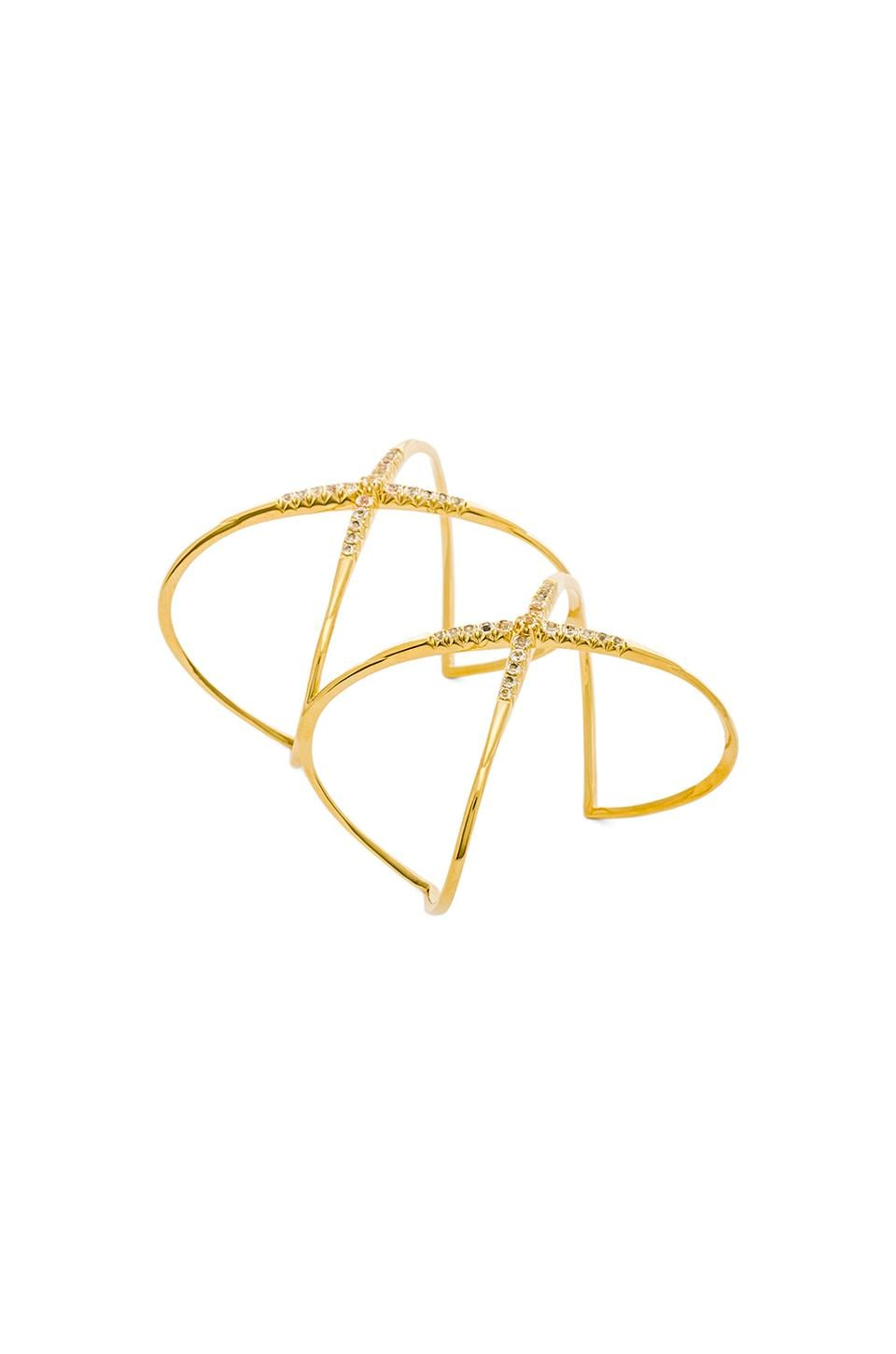 Elizabeth and James Vida Cuff in Yellow Gold