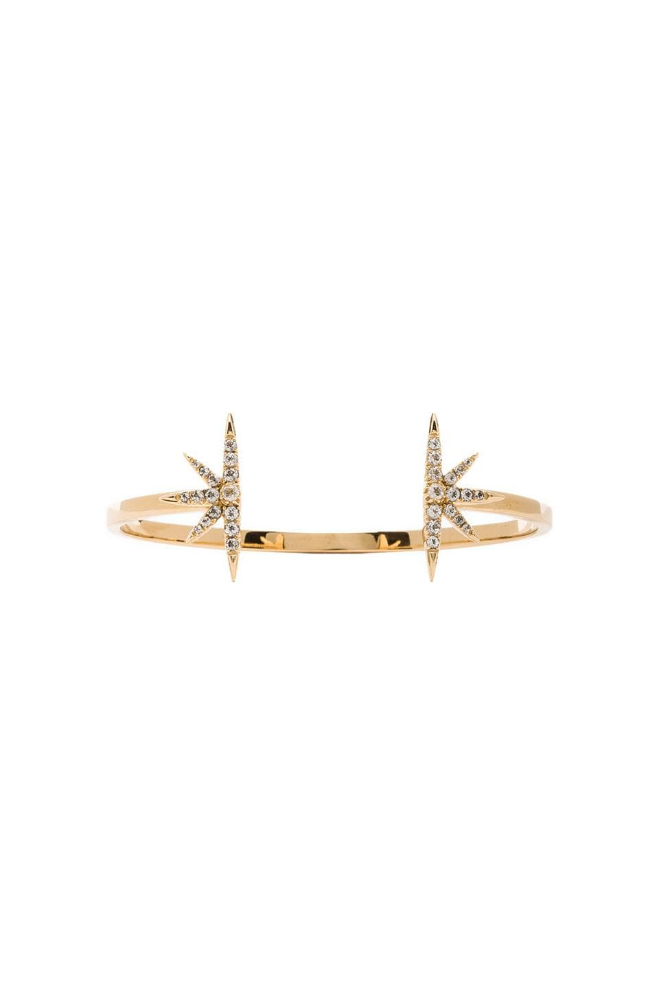 Elizabeth and James Celestial Bangle with White Topaz in Gold