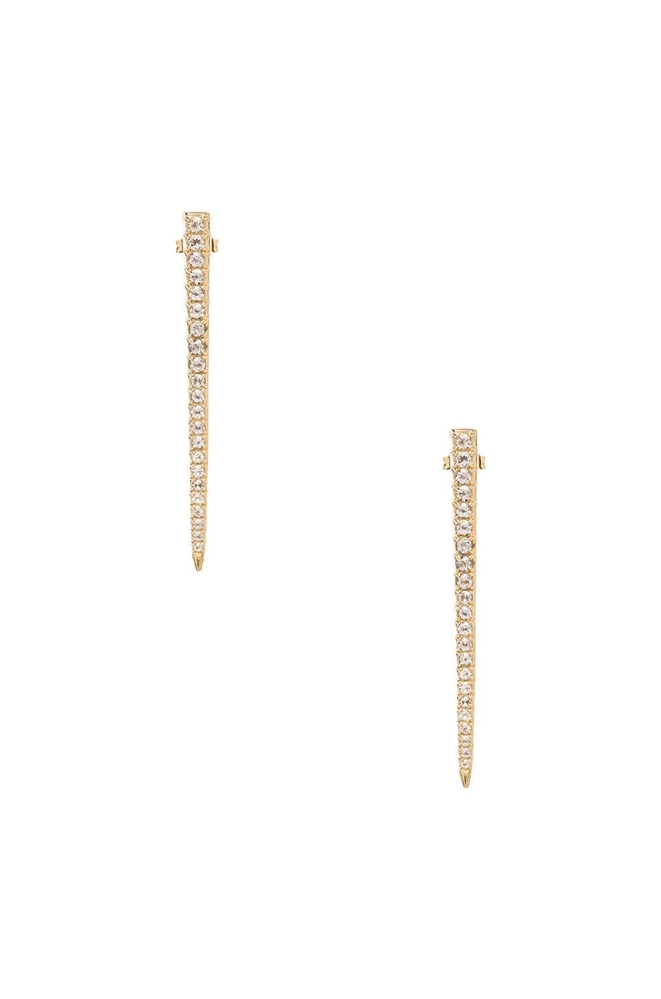 Elizabeth and James Celestial Earring with White Topaz in Gold