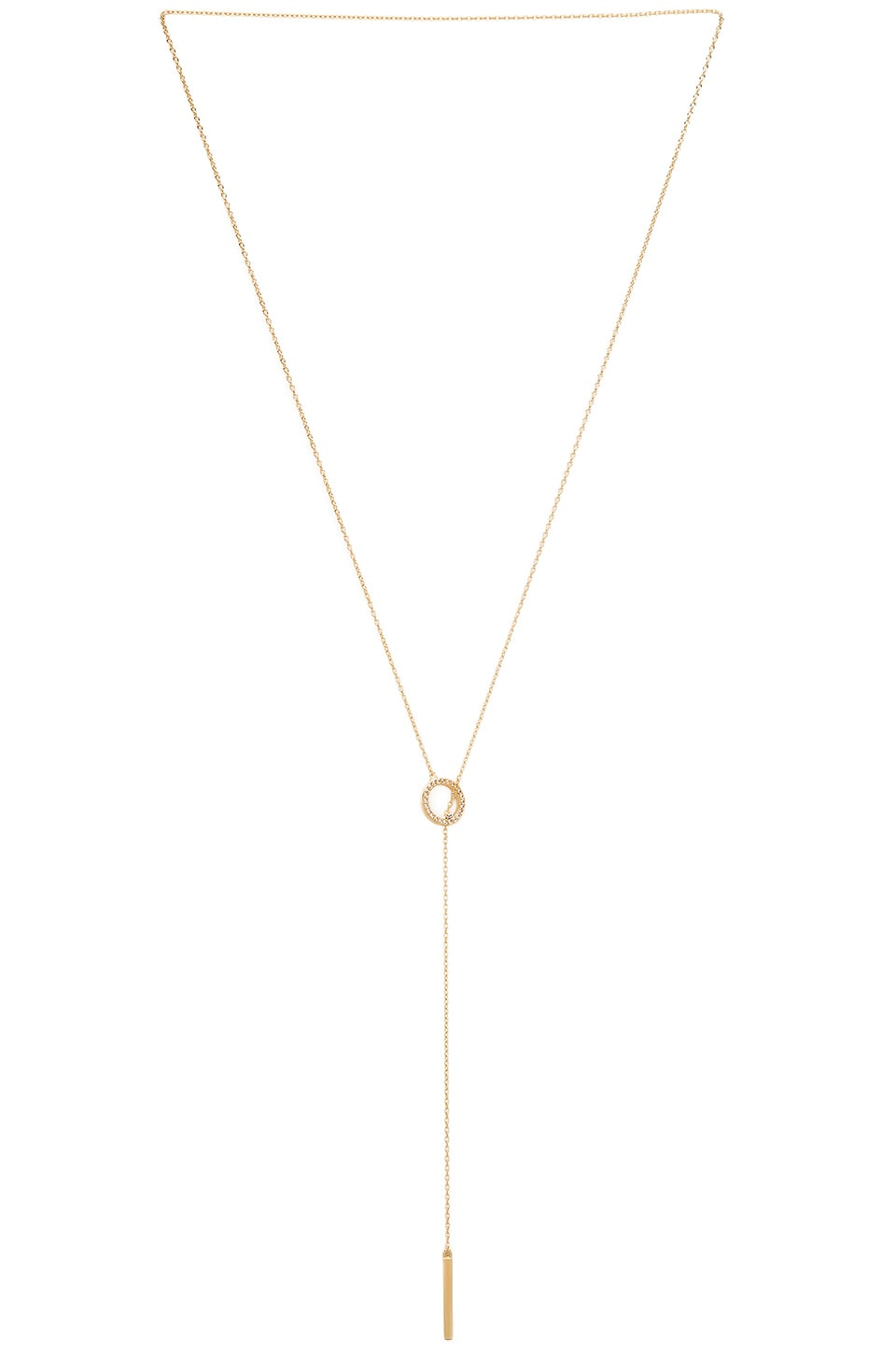 Elizabeth and James Eva Lariat in Gold