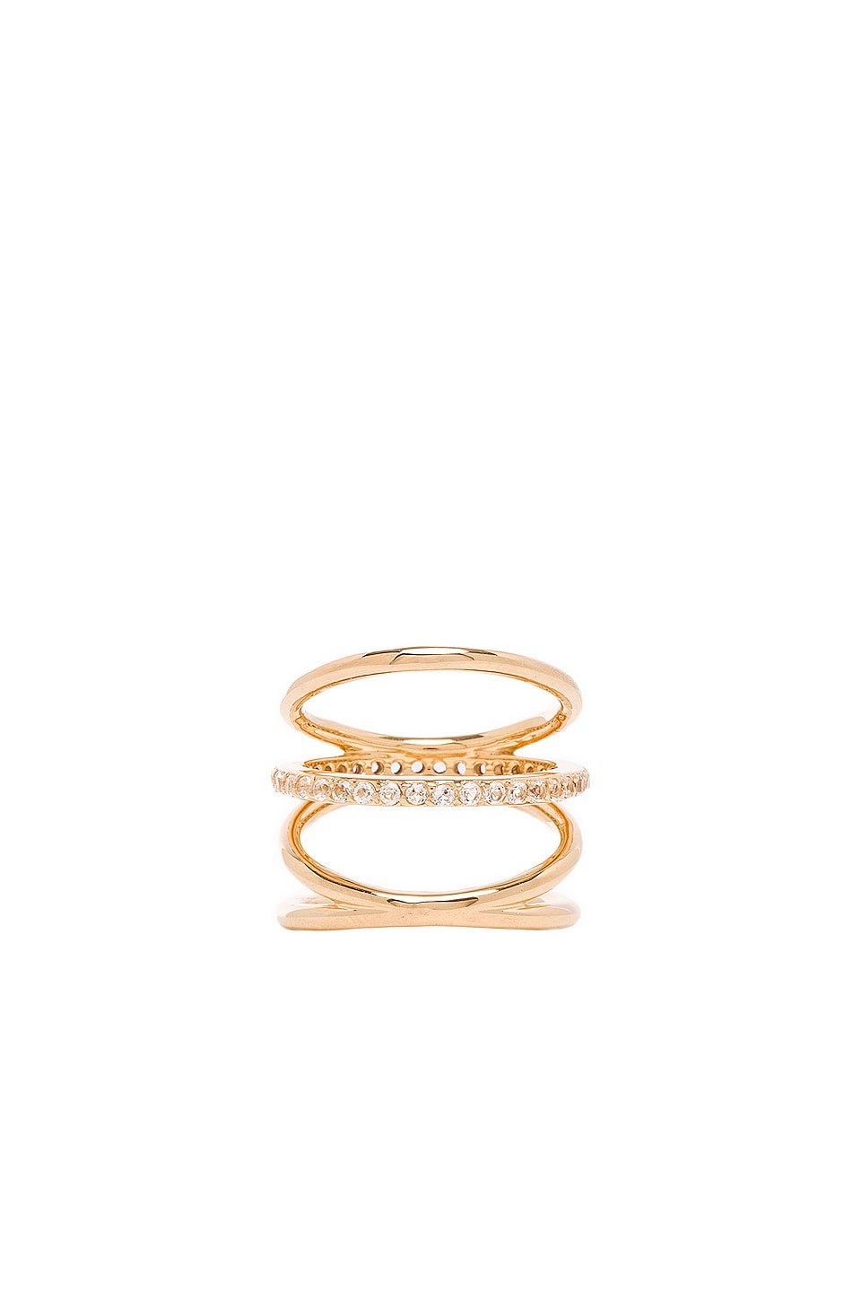 Elizabeth and James Mondrian Ring in Gold