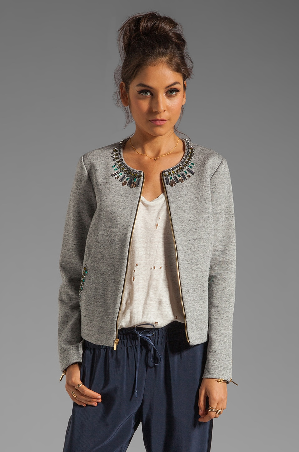 Elizabeth and James Quinn Jacket in Heather Grey/Charcoal