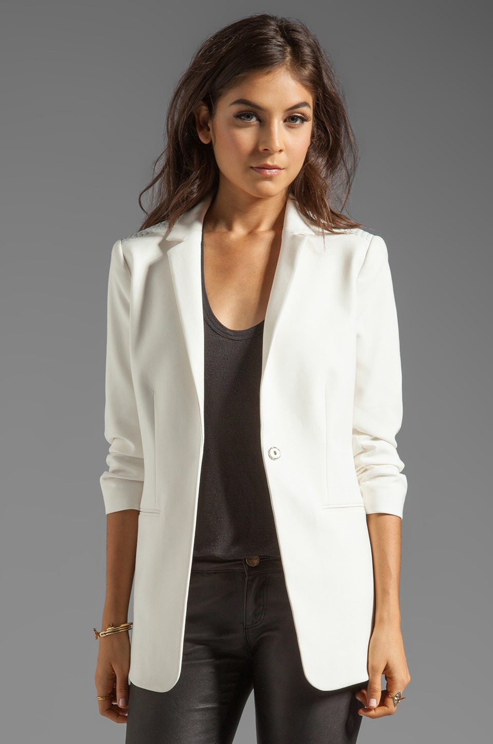 Elizabeth and James Nailhead James Blazer in Ivory