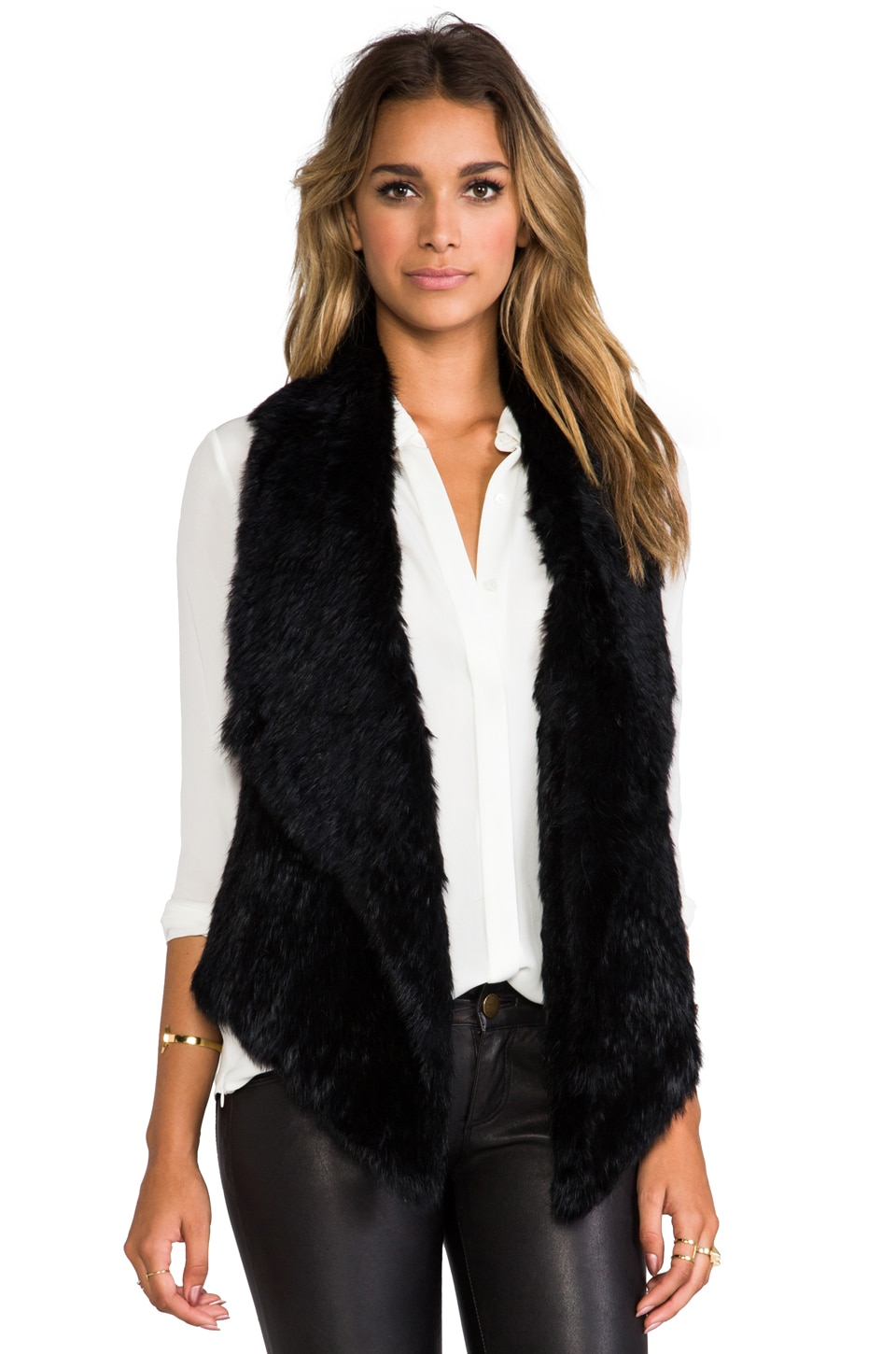 Elizabeth and James Menia Vest in Black/Black