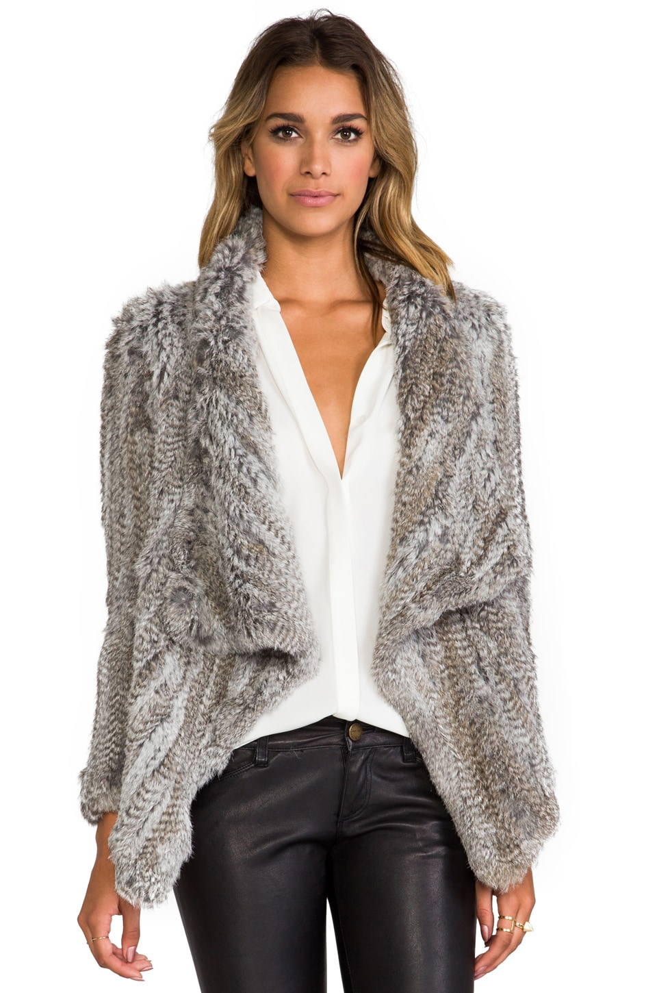 Elizabeth and James Cropped Elijah Jacket in Salt and Pepper