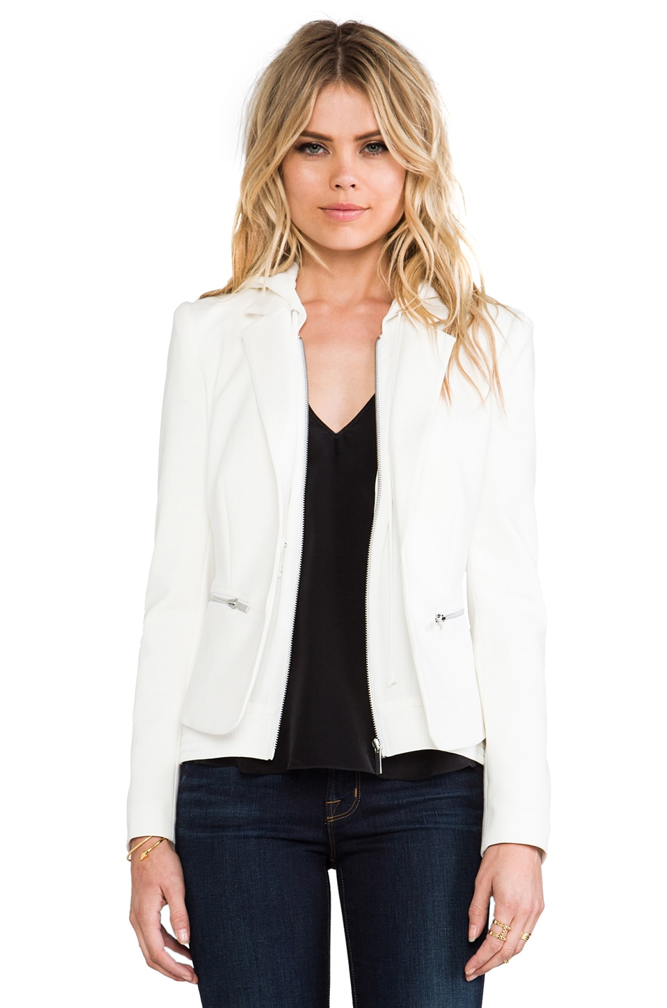 Elizabeth and James Suzie Jacket in Ivory & Ivory