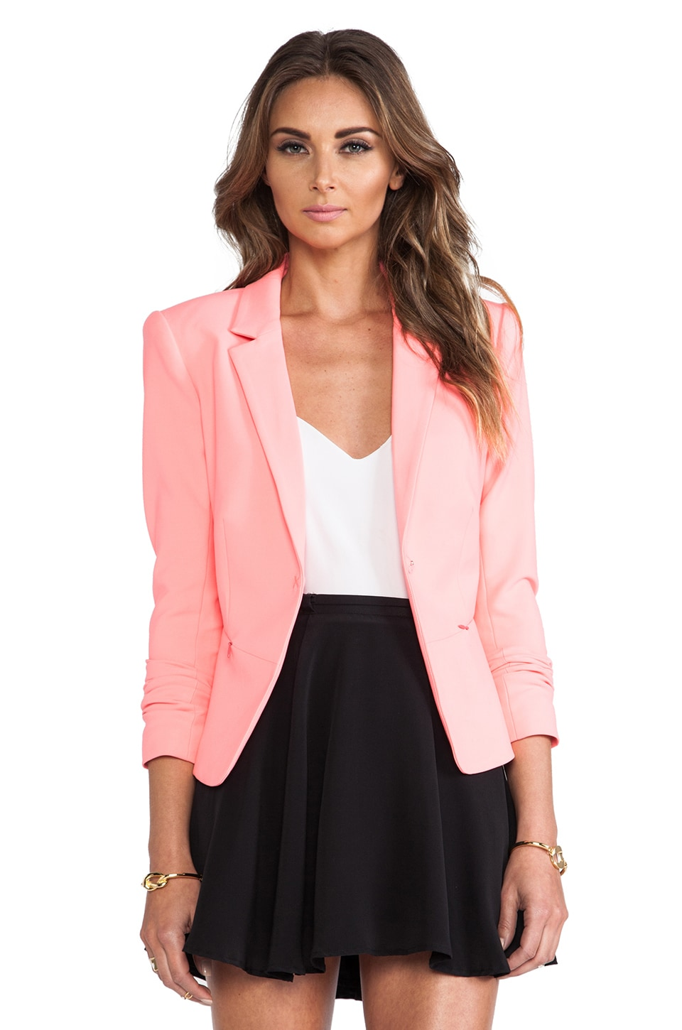 Elizabeth and James Jimmy Blazer in Hot Coral