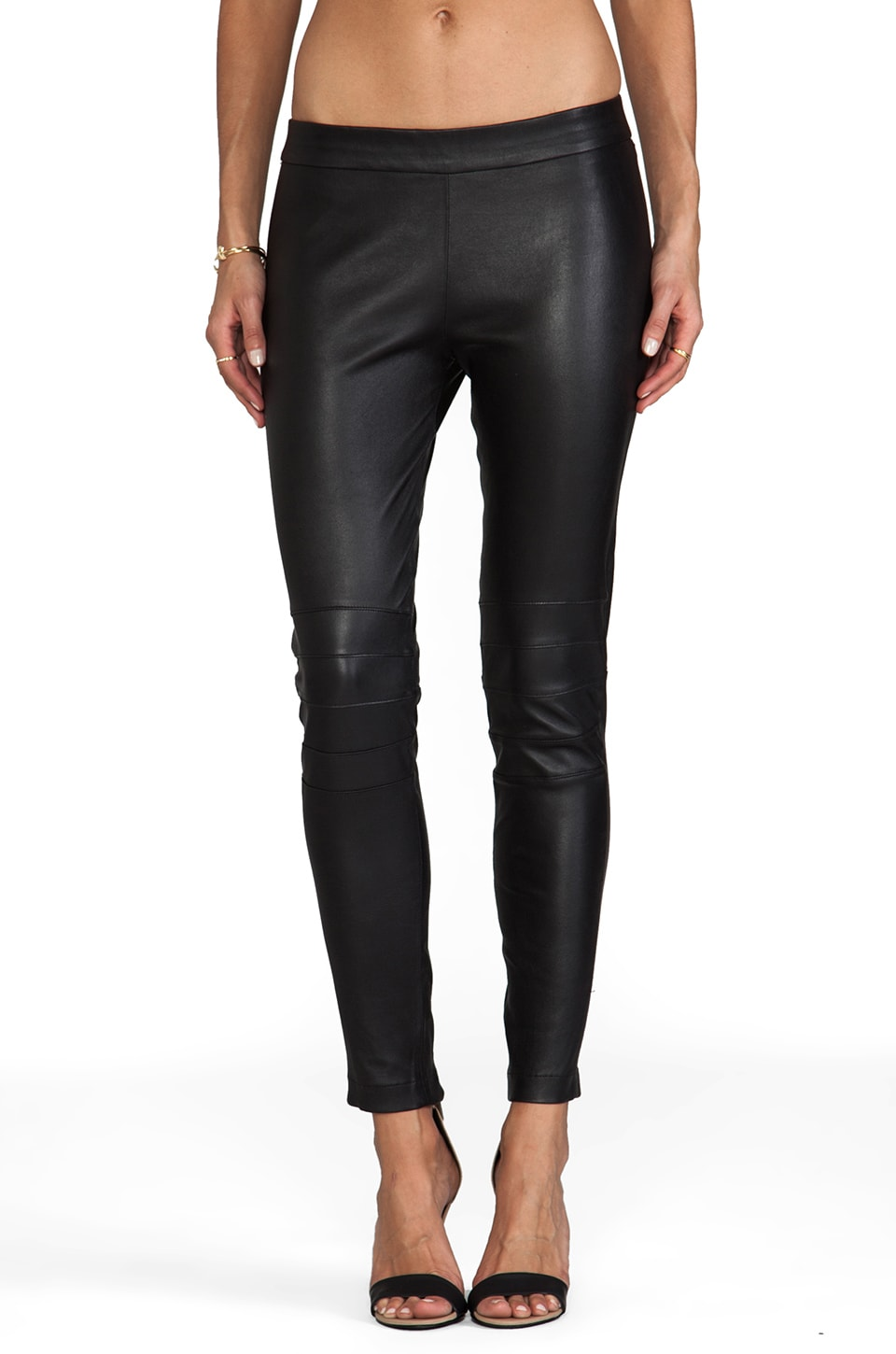 Elizabeth and James Addison Leather Legging in Black