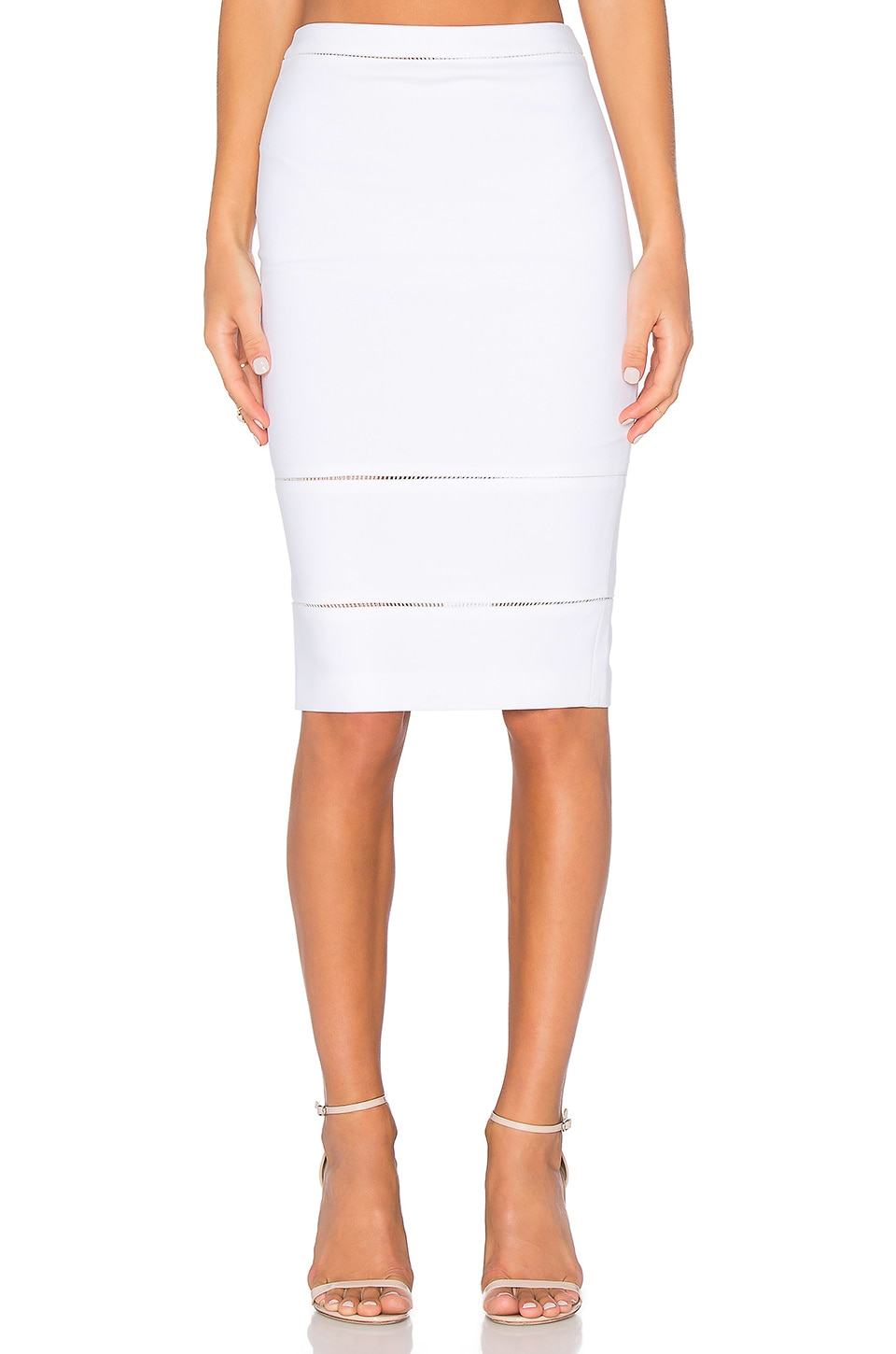 Elizabeth and James Wheeler Skirt in Ivory