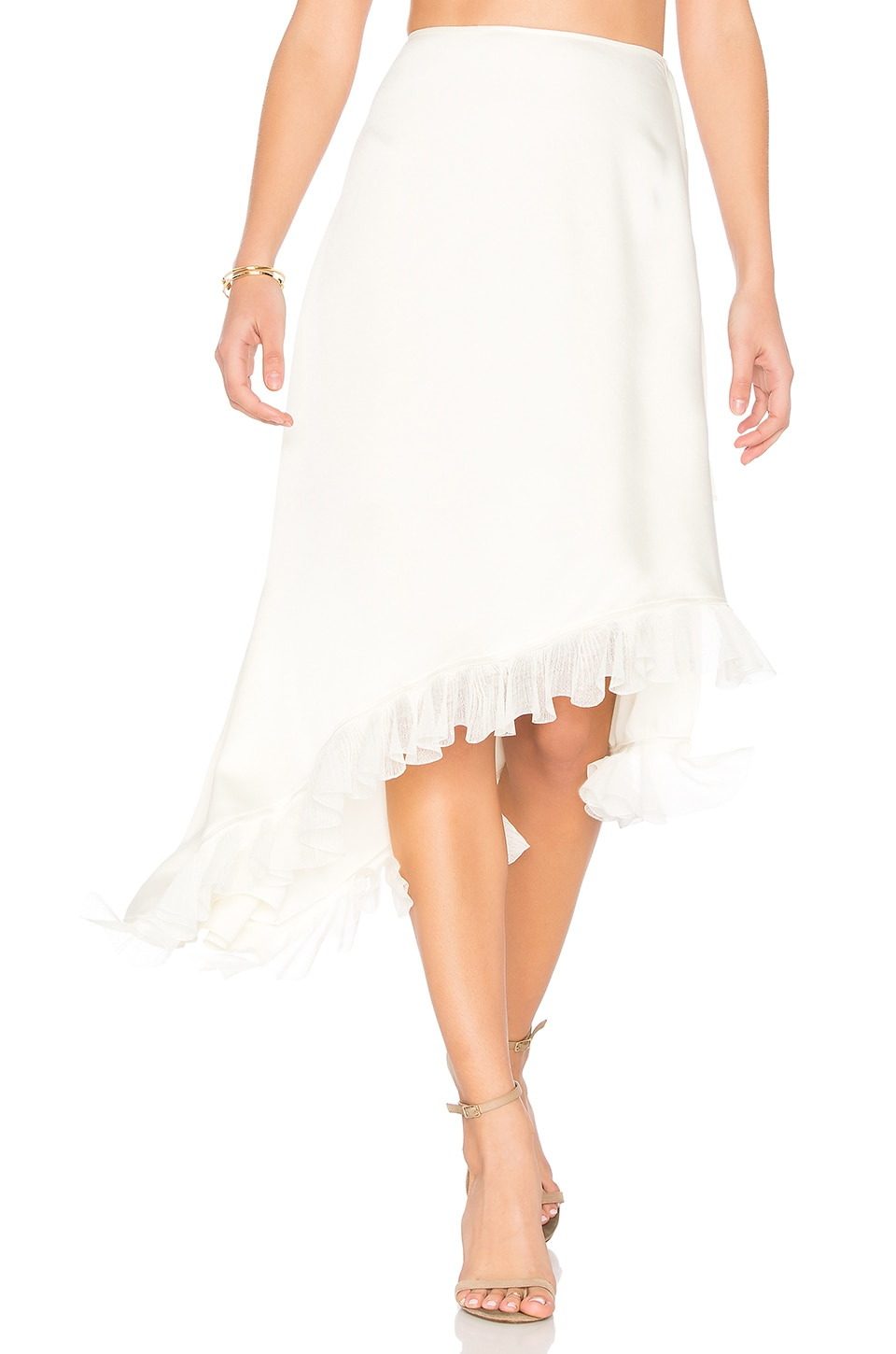 Elizabeth and James Ailie Asymmetric Skirt in Ivory