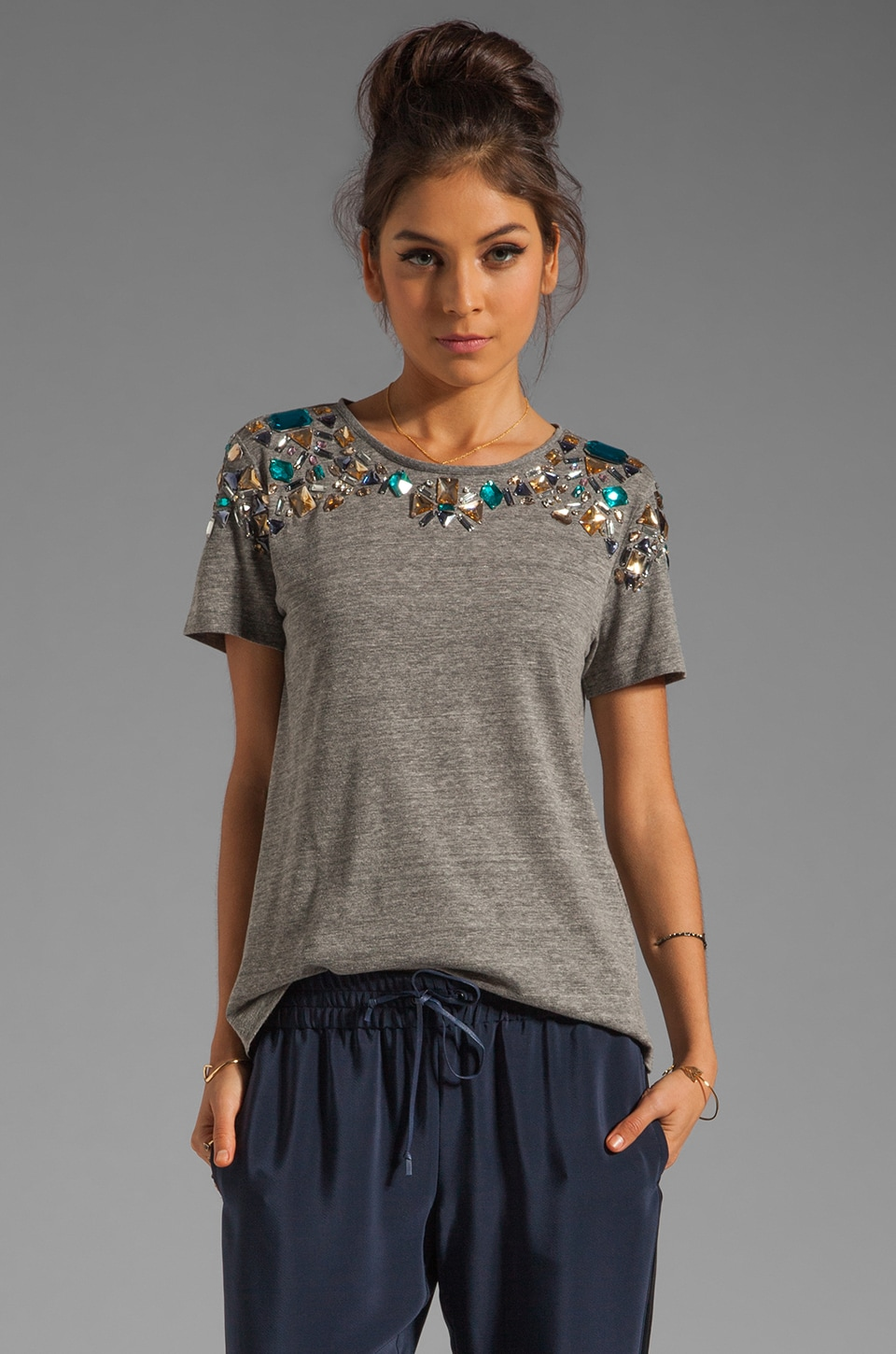 Elizabeth and James Victoria Tee in Heather Grey