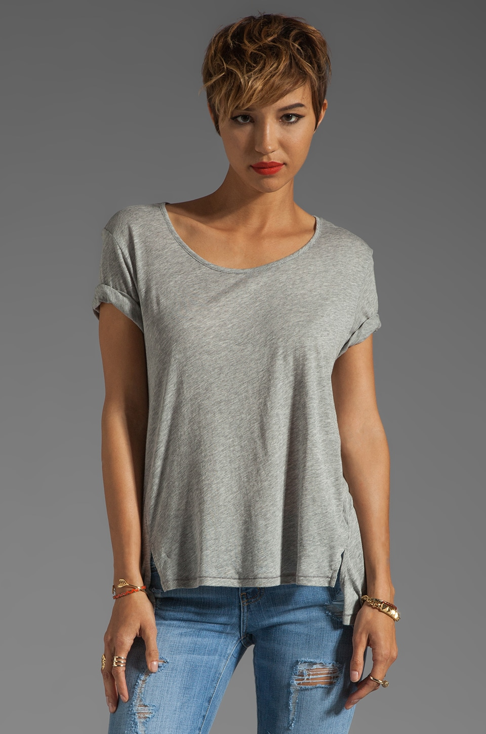 Elizabeth and James Kal Tee in Heather Grey
