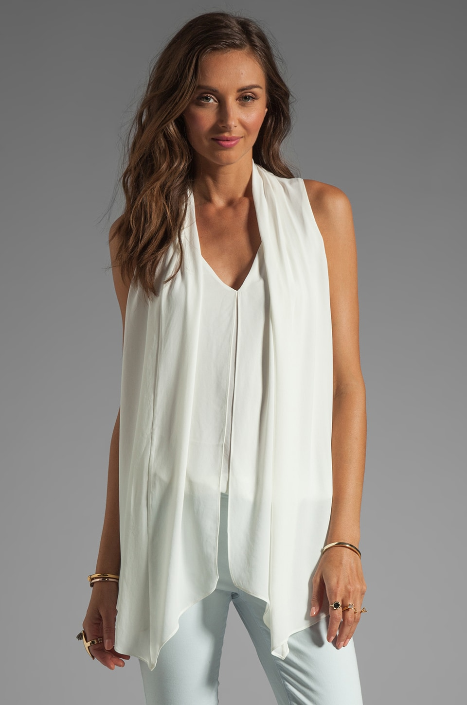 Elizabeth and James Grace Top in Ivory
