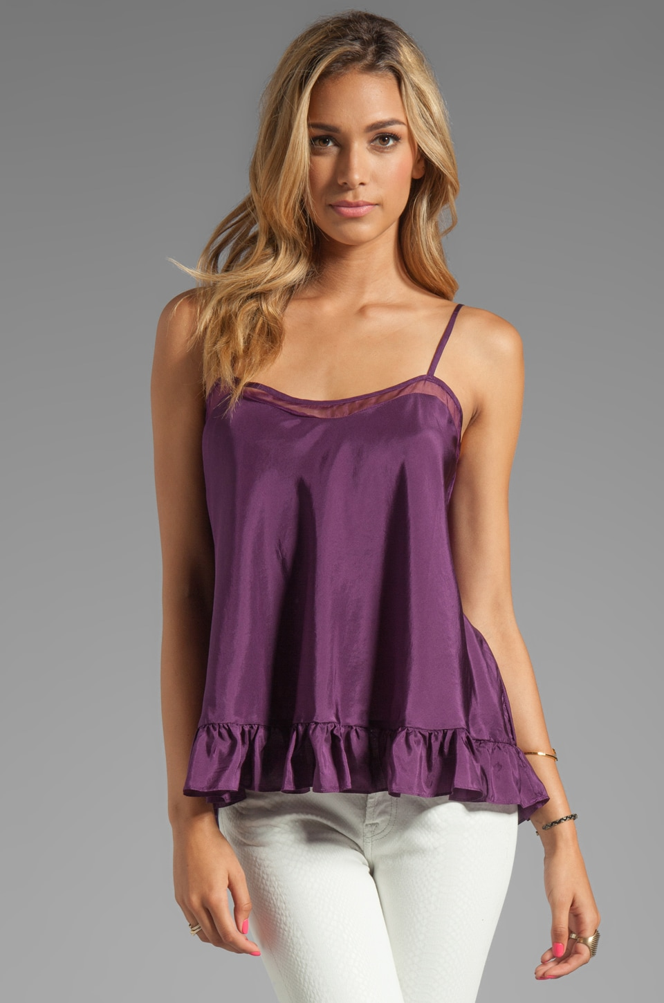 Elizabeth and James Norma Top in Aubergine