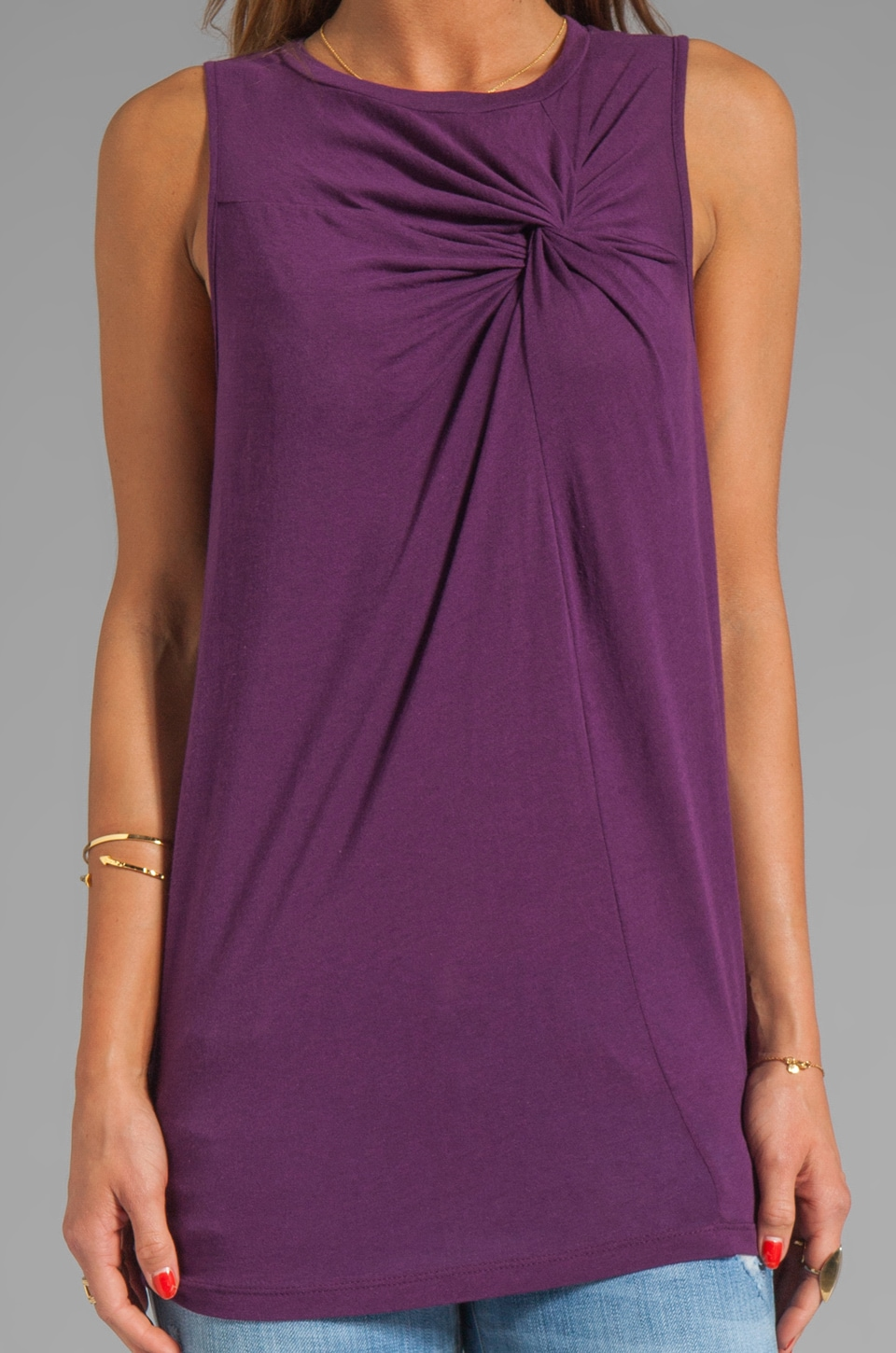 Elizabeth and James Larissa Tank in Aubergine