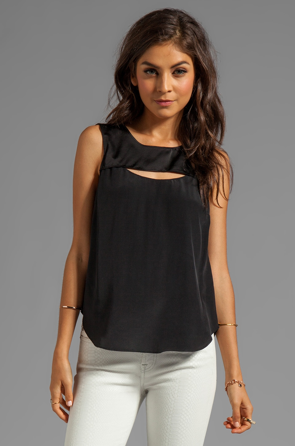 Elizabeth and James Lana Top in Black