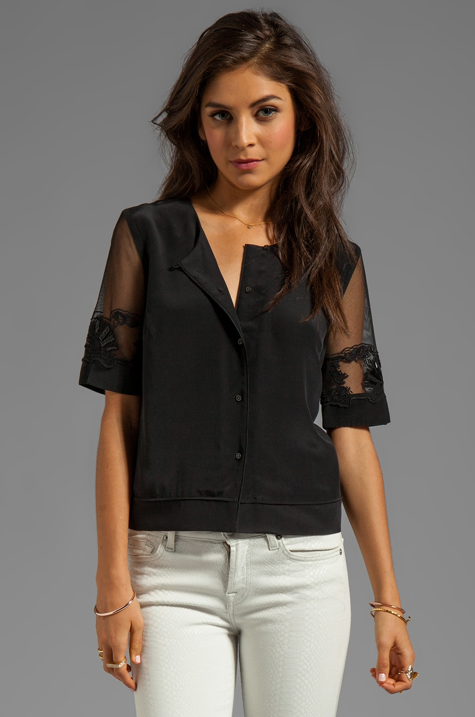 Elizabeth and James Ada Blouse in Black
