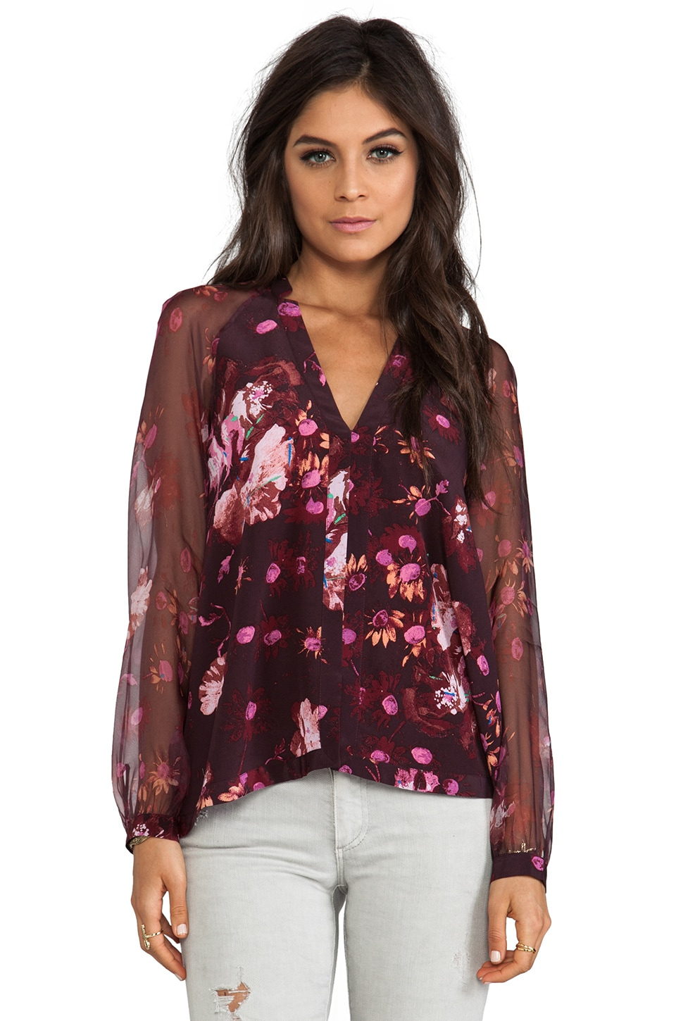 Elizabeth and James Peyton Blouse in Bordeaux