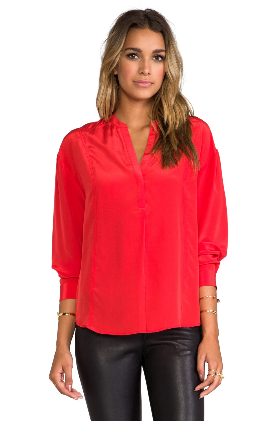 Elizabeth and James Pamela Blouse in Empire Red