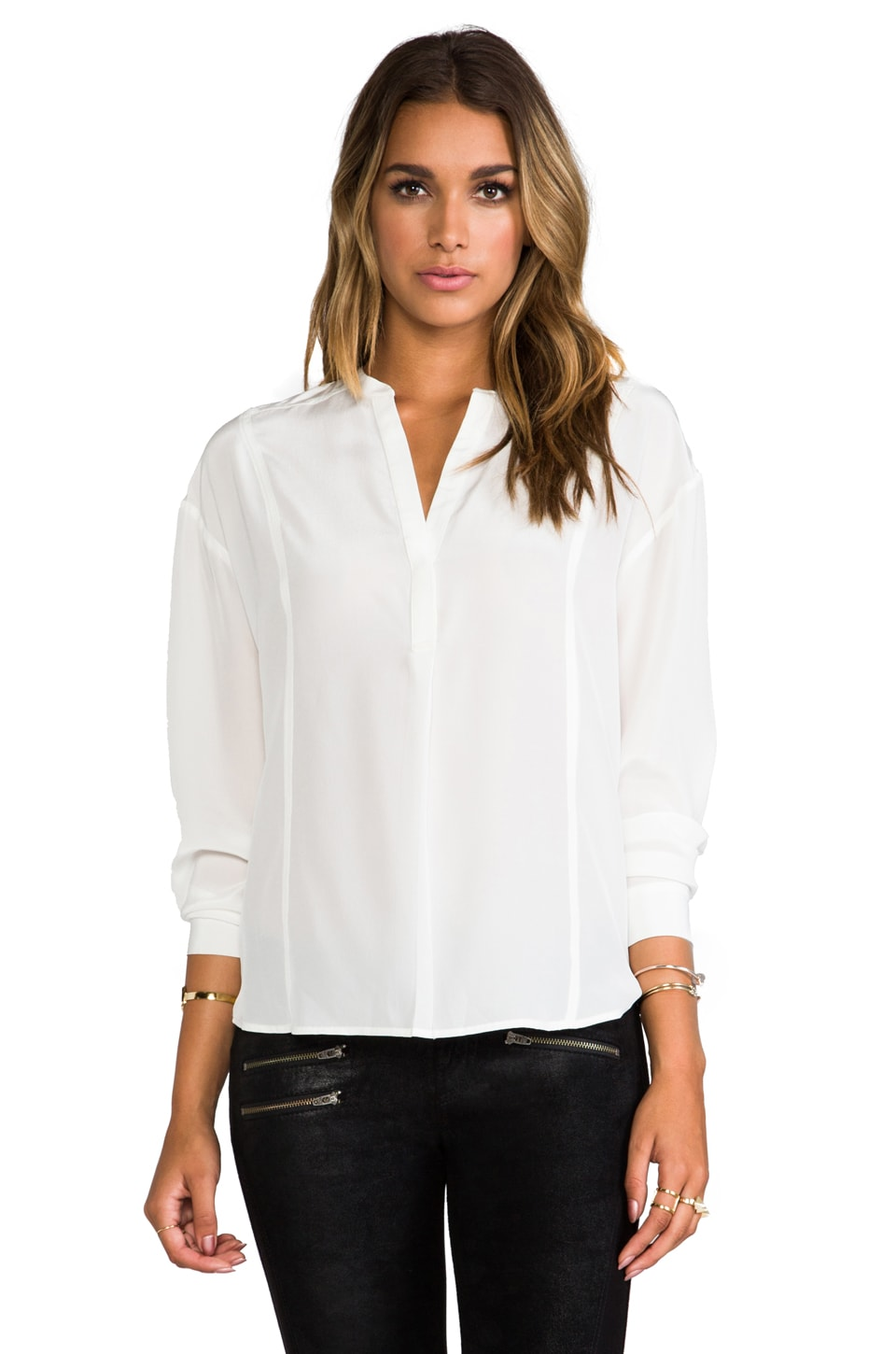 Elizabeth and James Pamela Blouse in Ivory