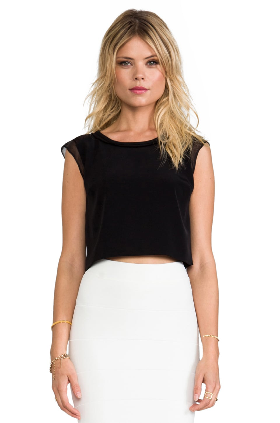 Elizabeth and James Brendan Top in Black