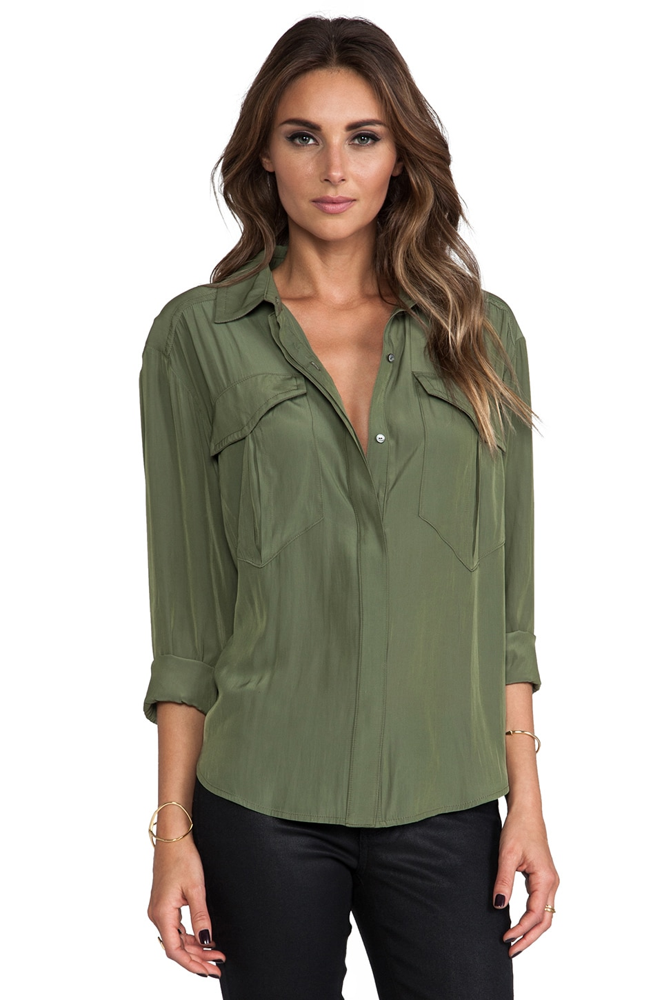 Elizabeth and James Erickson Shirt in Military Green