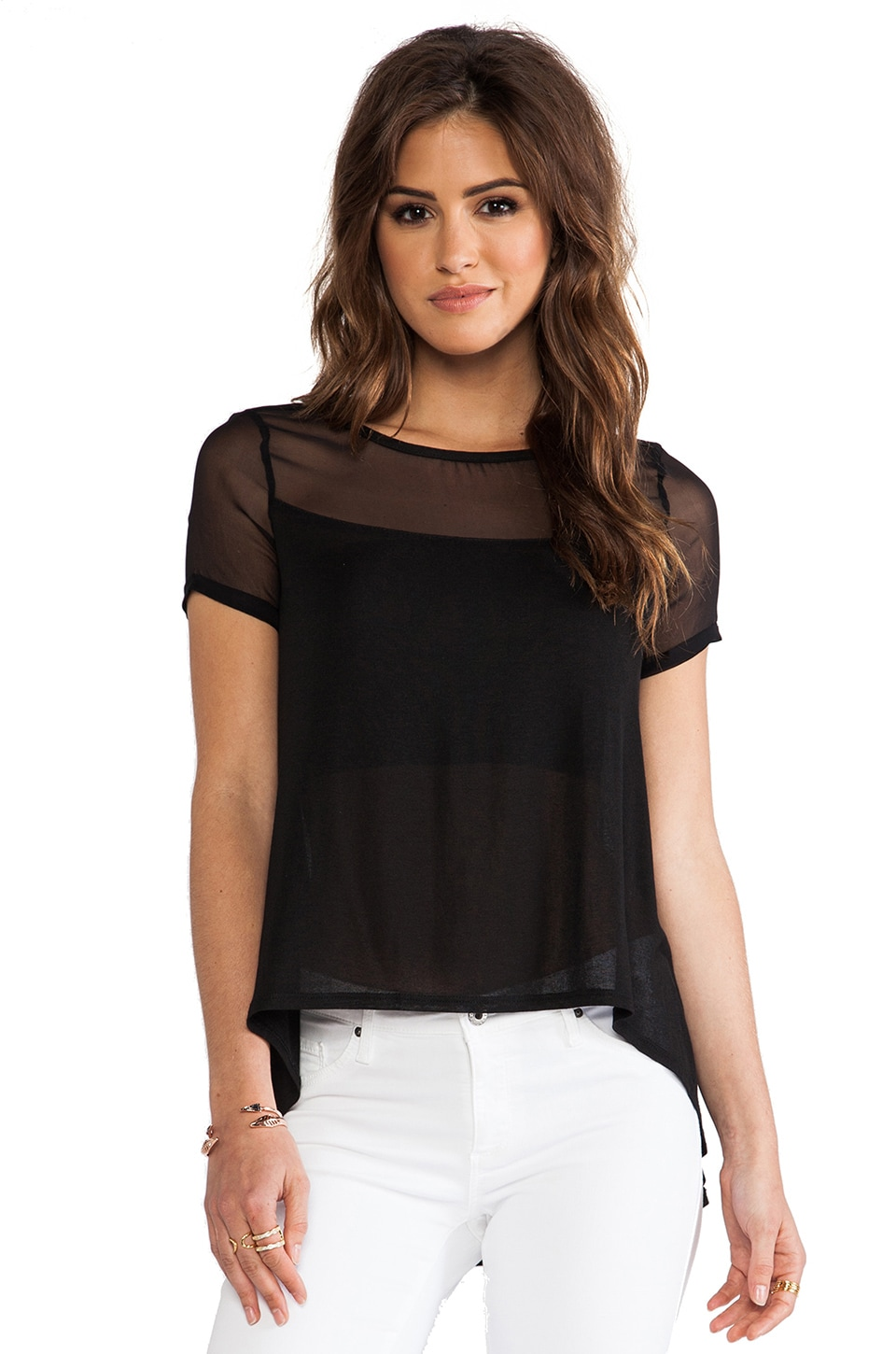 Elizabeth and James Downing Top in Black